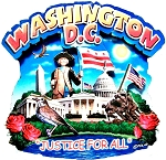 Washington D.C. Justice For All Artwood Montage Fridge Magnet