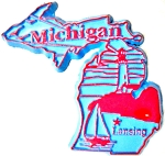 Michigan Lansing Fridge Magnet