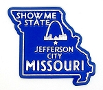 Missouri the Show Me State Souvenir Fridge Magnet