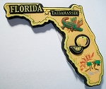 Florida Tallahassee Multi Color Fridge Magnet Design 18