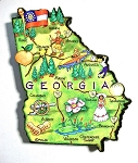 Georgia State Outline Artwood Jumbo Magnet