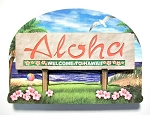 Hawaii State Welcome Sign Artwood Magnet Design 14