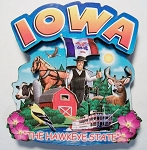 Iowa Montage Artwood Magnet Design 16