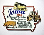 Iowa The Hawkeye State Outline Montage Fridge Magnet Design 4