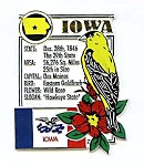 Iowa The Hawkeye State Montage Fridge Magnet Design 5
