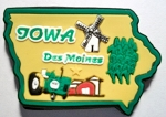 Iowa Springfield Multi Color Fridge Magnet