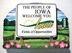 Iowa State Welcome Sign Artwood Magnet Design 14