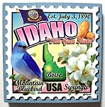 Idaho Postage Stamp Artwood Fridge Magnet Design 28