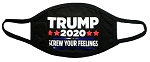 2-Pack Trump 2020 Screw Your Feelings Black Unisex Face Mask
