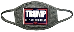 2-Pack Trump Keep America Great 2020 Grey Unisex Face Masks