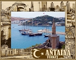 Antalya Turkey Laser Engraved Wood Picture Frame (5 x 7)