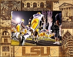 LSU Laser Engraved Wood Picture Frame (5 x 7)