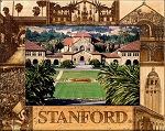 Stanford Laser Engraved Wood Picture Frame