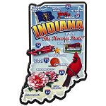 Indiana the Hoosier State Deluxe Artwood Jumbo Fridge Magnet