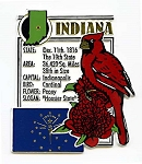 Indiana The Hoosier State Montage Fridge Magnet