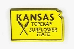 Kansas State Outline Fridge Magnet