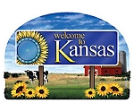 Kansas State Welcome Sign Artwood Magnet Design 14