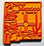 New Mexico State Outline Fridge Magnet Design 3