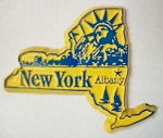 New York State Outline Fridge Magnet