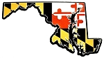 Maryland with State Flag Design Decowood Fridge Magnet