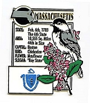 Massachusetts The Bay State Montage Fridge Magnet Design 5