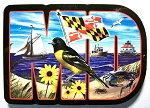 Maryland Artwood Initial Fridge Magnet Design 19
