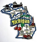 Michigan Jumbo Map Fridge Magnet