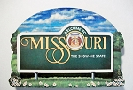 Missouri State Welcome Sign Artwood Fridge Magnet Design 14