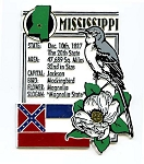 Mississippi The Magnolia State Montage Fridge Magnet