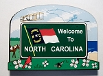 North Carolina State Welcome Sign Decowood Fridge Magnet Design 10