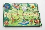 North Dakota State Outline Artwood Jumbo Fridge Magnet Design 12
