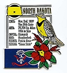 North Dakota The Sioux State Montage Fridge Magnet Design 5