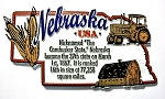 Nebraska The Cornhusker State Outline Montage Fridge Magnet
