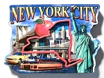 New York City Montage Artwood Fridge Magnet