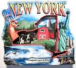 New York Montage Artwood Fridge Magnet Design 27