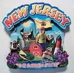 New Jersey Montage Artwood Fridge Magnet Design 16