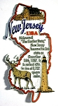New Jersey Outline Montage Fridge Magnet