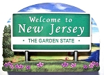 New Jersey State Welcome Sign Artwood Fridge Magnet Design 14