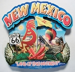 New Mexico Montage Artwood Fridge Magnet Design 1