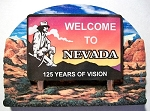 Nevada State Welcome Sign Artwood Fridge Magnet Design 14
