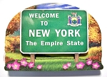 New York State Welcome Sign Artwood Fridge Magnet Design 14