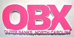 OBX Block Pink Fridge Magnet Design 10