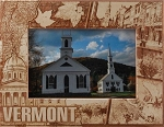 Vermont Laser Engraved Wood Picture Frame (5 x 7)
