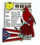 Ohio The Buckeye State Montage Fridge Magnet