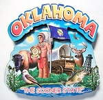 Oklahoma Montage Artwood Fridge Magnet Design 16