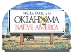 Oklahoma State Welcome Sign Artwood Fridge Magnet