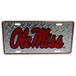 Ole Miss Rebels Diamond Plate License Plate-NCAA