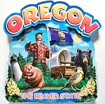 Oregon Montage Artwood Fridge Magnet Design 16