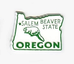 Oregon State Outline Fridge Magnet Design 1