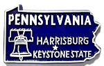 Pennsylvania State Outline Fridge Magnet Design 10